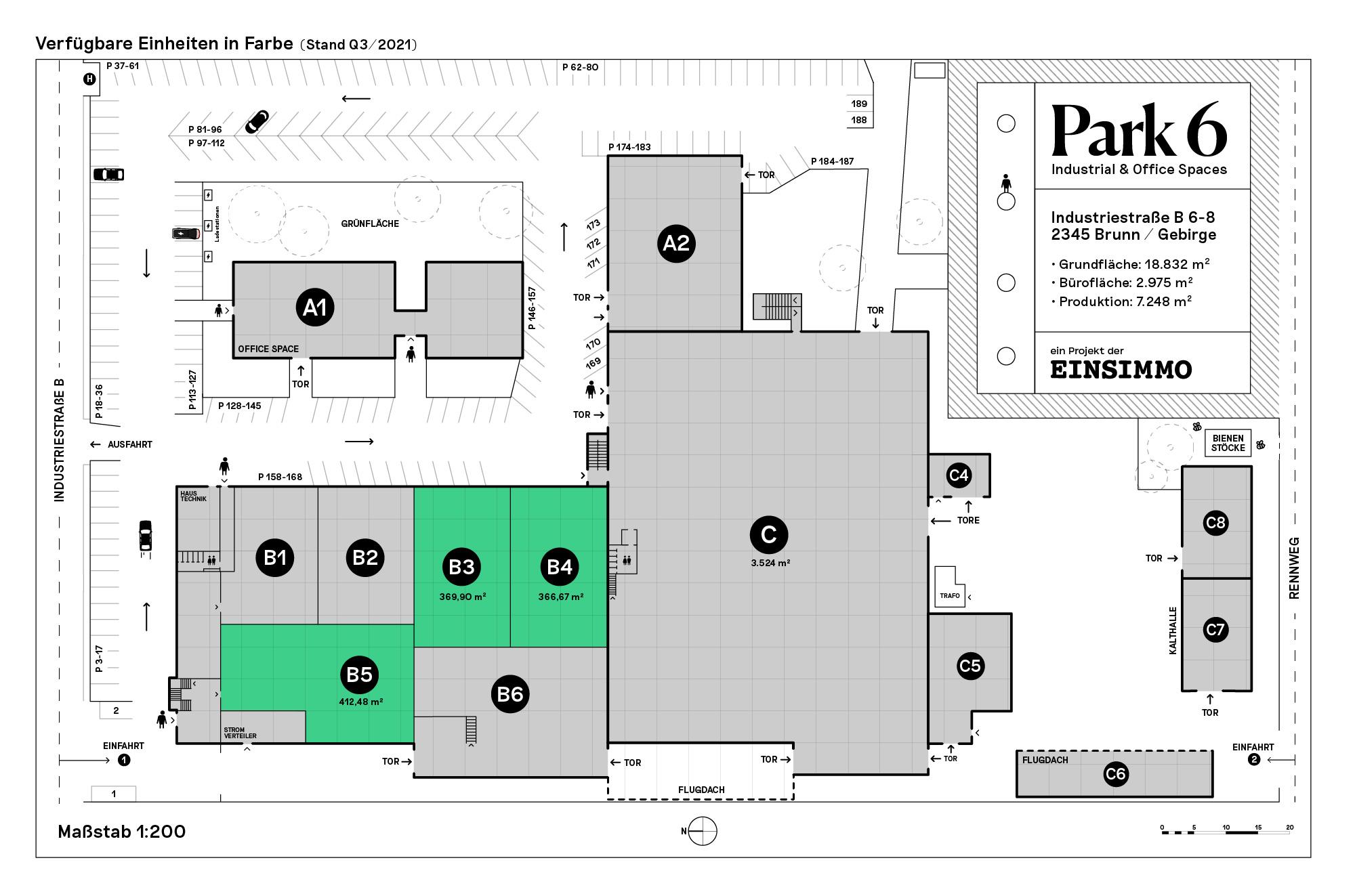 Park 6 - Lageplan Erdgeschoss - Q3 - 2021